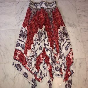 Free People Floral Maxi Skirt
